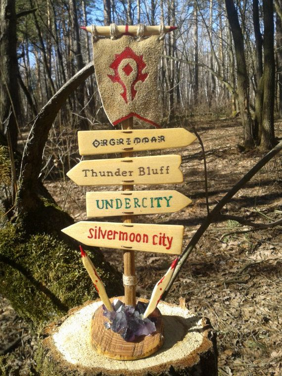 Hey, I found this really awesome Etsy listing at https://www.etsy.com/listing/226548188/world-of-warcraft-road-sign-horde-wooden