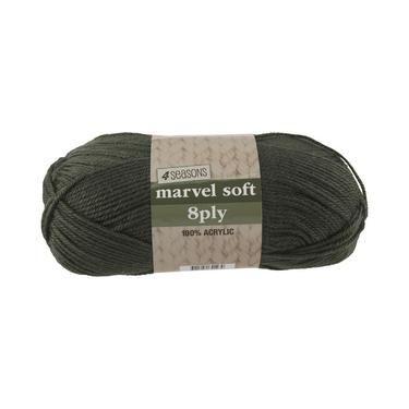 4 Seasons Marvel Soft 8 Ply Yarn Olive 100 g