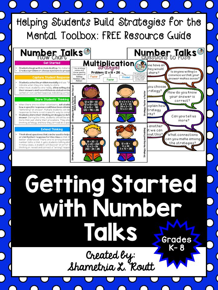 Getting Started with Number Talks - Minds in Bloom More