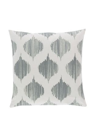 57% OFF Surya Ikat Throw Pillow (Moon Mist)