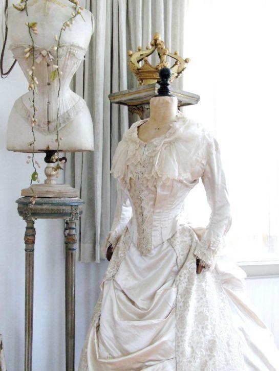 Vintage clothing on display