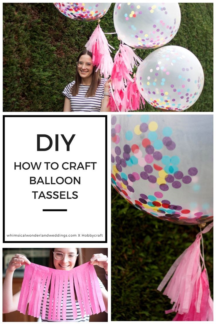 DIY #Tissue #Paper #Tassels #Balloons #Giant #Wedding #Tutorial #How #To #Confetti #Helium # ...