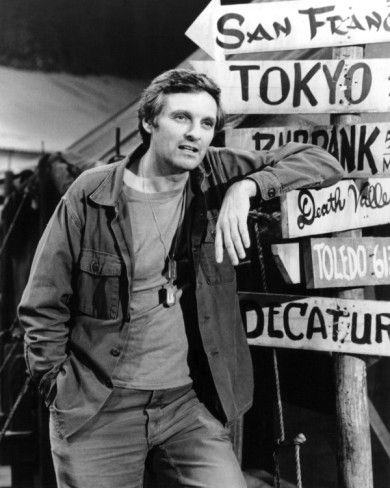 Alan Alda. M*A*S*H depicted a medical team operating a field hospital during the Korean War. Great show.
