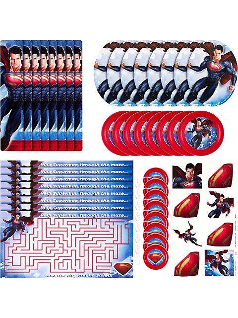SUPERMAN PARTY FAVOR PACK (48 PIECE)