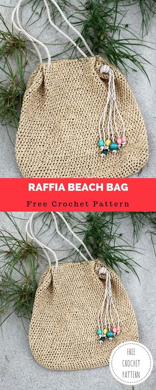 Raffia Beach Bag [FREE CROCHET PATTERN