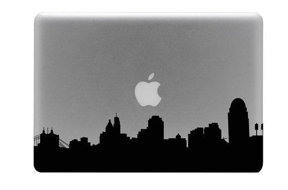 Cincinnati Skyline Macbook Decal / Macbook Sticker by BengalWorks, $8.99