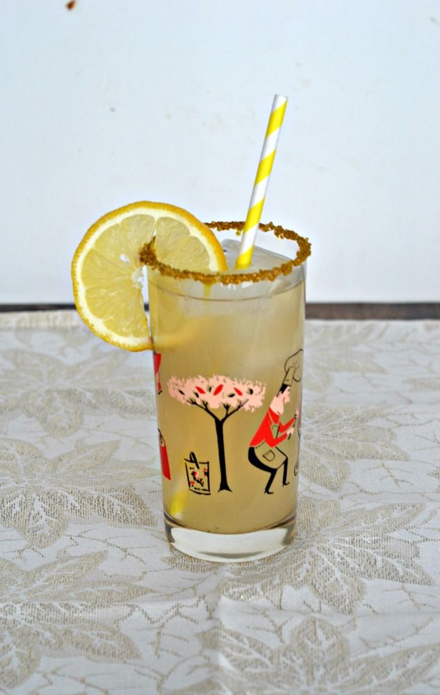 Sweet and tart you'll love this Spiked Pear Ginger Lemonade