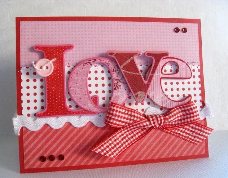 Exceptional Card Making Embellishment Ideas Part - 8: Valentines Day Handmade Card Using Mambi (me U0026 My BIG Ideas) Soft Spoken  LOVE