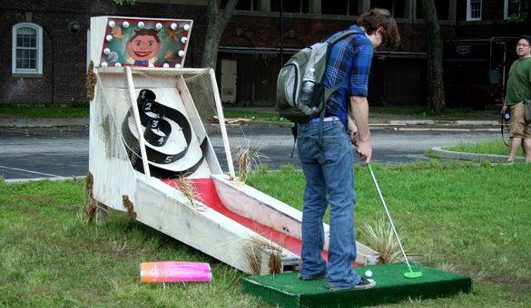 FIGMENT is a free participatory art event that is 100% volunteer-powered. FIGMENT NYC's summer-long projects include a minigolf course and treehouse on Governors Island!