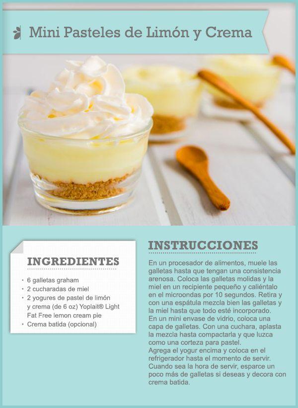 77 best recipe cards tips images on pinterest recipe cards mini pasteles de limn y crema quericavida recipecard forumfinder Gallery