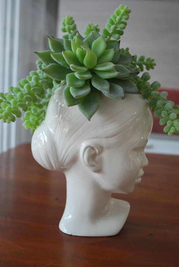 Modern Ceramic Head Planter Made to Order. от Membil на Etsy