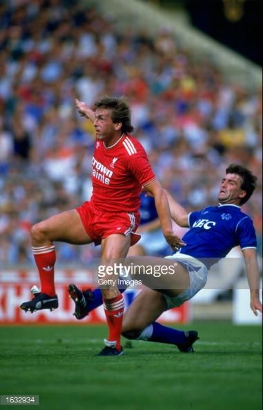 Kenny Dalglish of Liverpool and Kevin Ratcliffe of Everton in action during the Charity Shield match at Wembley Stadium in London The match ended in a 11 draw Mandatory Credit Allsport UK /Allsport