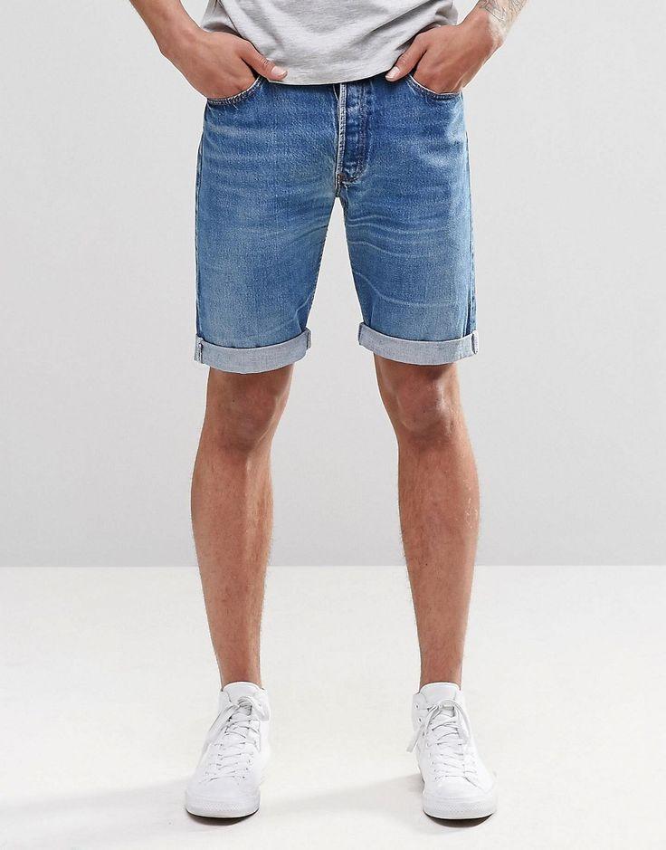 Imagen 2 de Pantalones cortos de estilo medio Levi's con parche de bolsillo de Reclaimed Vintage