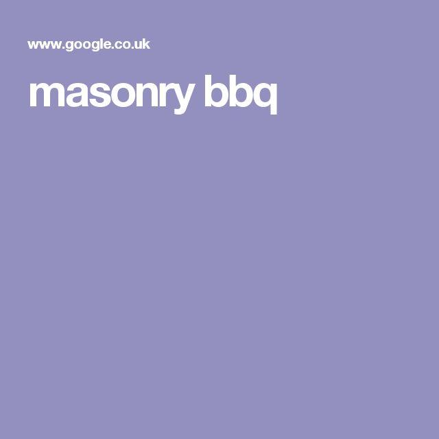 masonry bbq