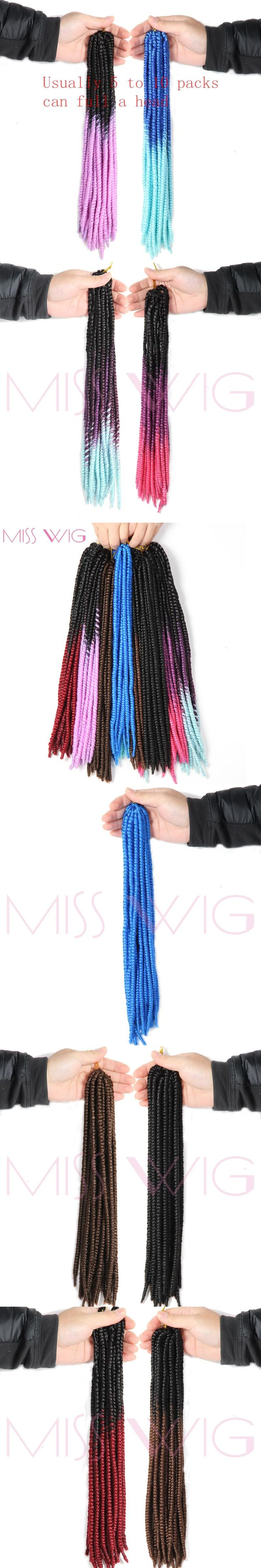 MISS WIG 14inches Havana Twist Braids 9colors Available Synthetic Hair Extension Ombre Braiding Hair High Temperature Fiber