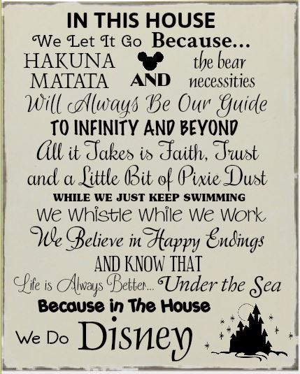 In this house - We do Disney