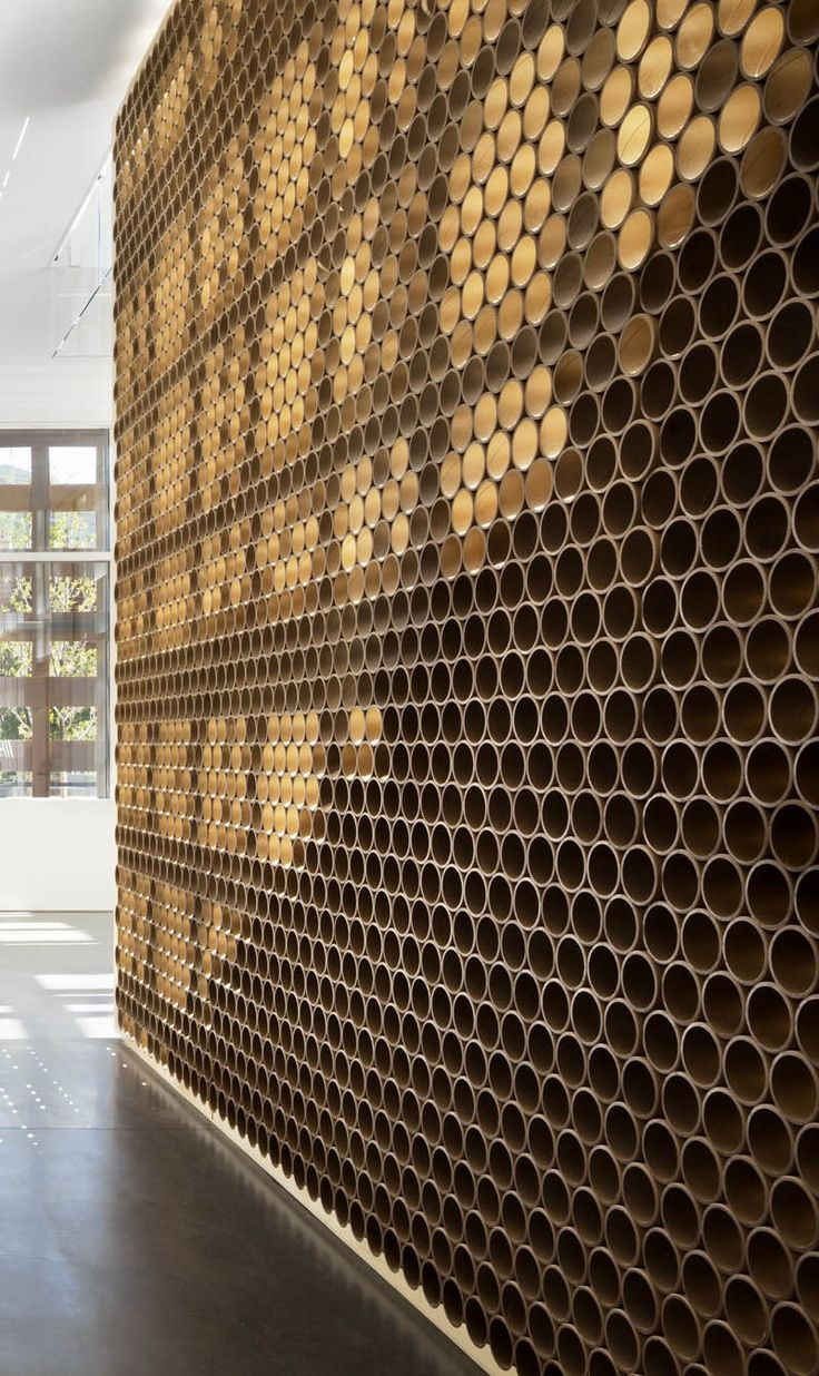 architectural materials design detail a wall made of tubes shigeru ban architects - Architectural Wall Design