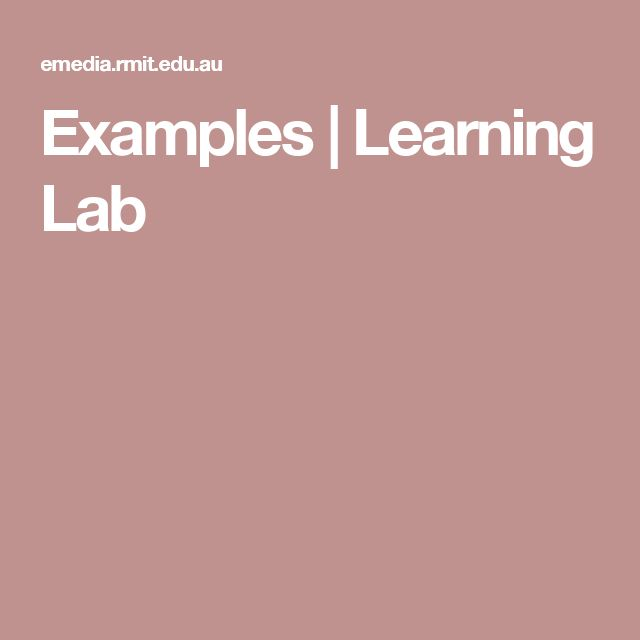 Examples | Learning Lab