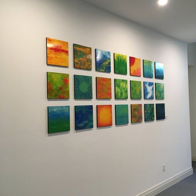 Colorful Wall Art Wood Art Commercial Art Large Wall