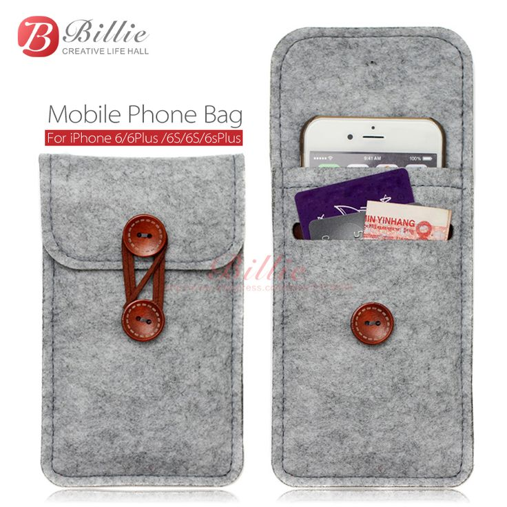 phone bag For iPhone 6 6s Plus 5.5 inch case For iPhone 6 4.7 inch bags mobile phone bags cases Case Cover Wool Felt Wallet | Price: US $3.78 | http://www.bestali.com/goto/32270150388/10