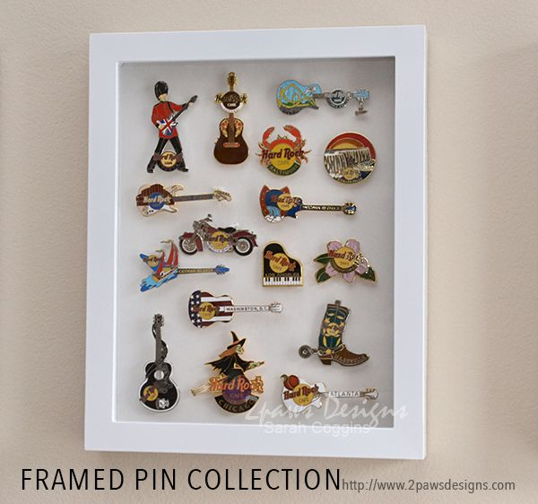 Framed Pin Collection ~ 2paws Designs #diy