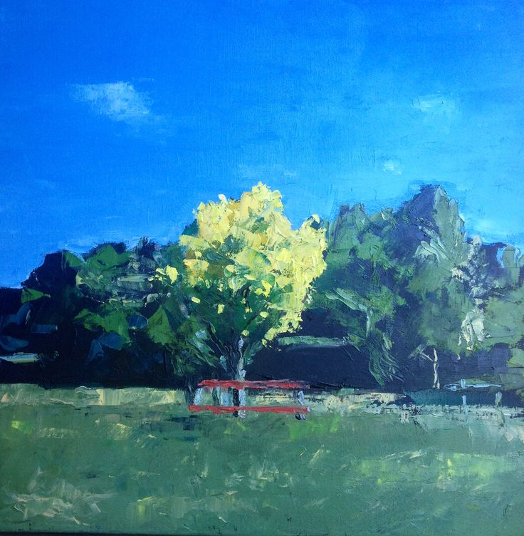 Summer garden. Oil on canvas. SOLD