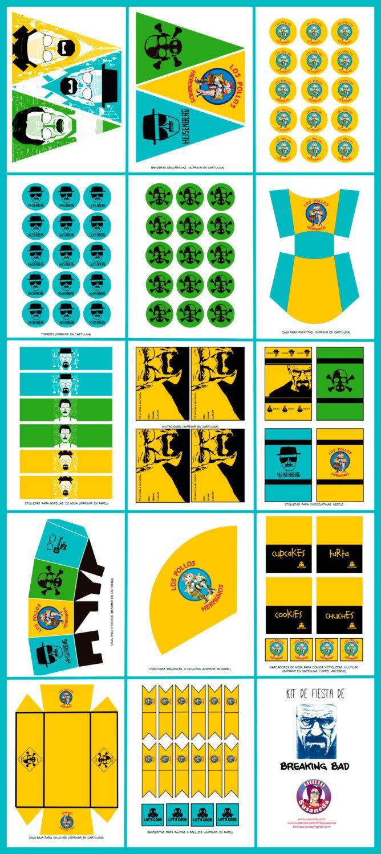 kit de Imprimibles de BREAKING BAD de ImprimiblesSusaneda en Etsy