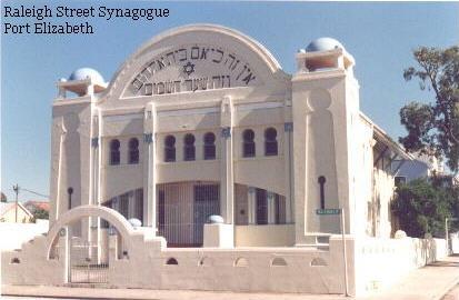Port Elizabeth Orthodox Hebrew Congregation, Port Elizabeth, Cape, Africa.