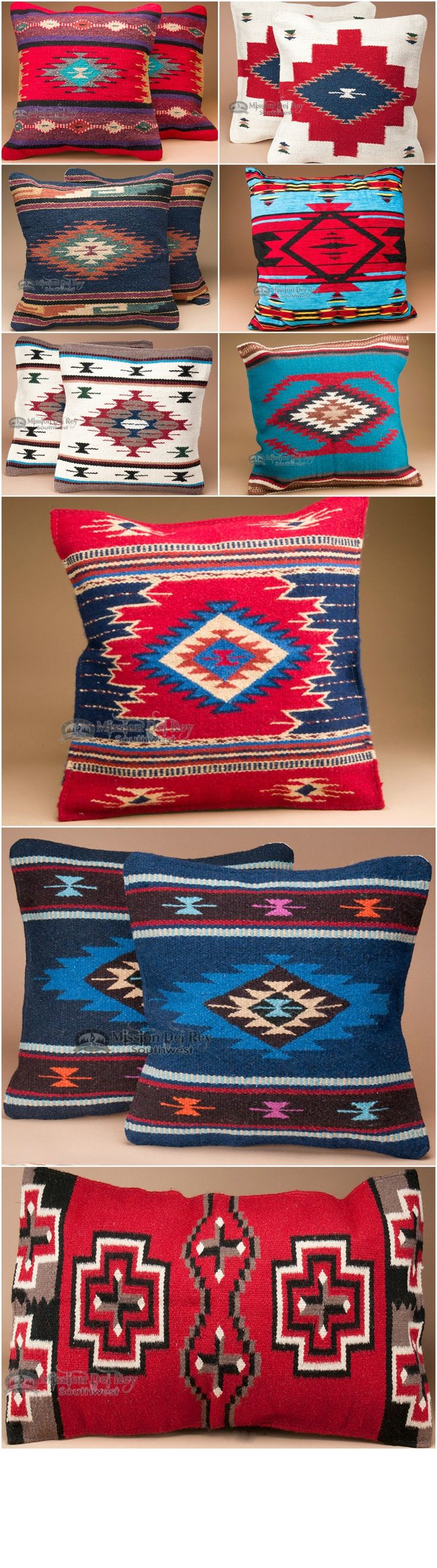 Using southwestern pillows in your home decor is the perfect way to accent a rustic living room, bedroom, or any area you want to add bright color and southwest style. Choose from a wide variety of colors and designs, and find other great southwest decor at http://www.missiondelrey.com/southwestern-pillows-pillow-covers/