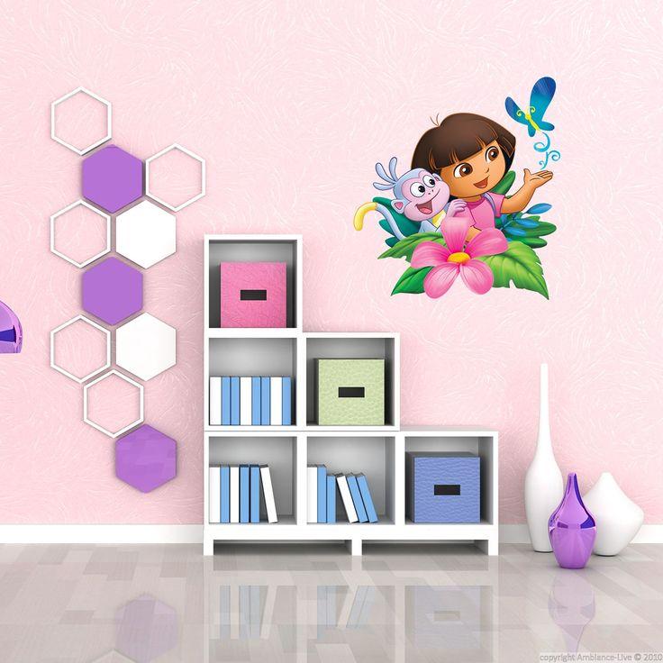 Sticker Dora En Fleur Col DORA J004 : Stickers Muraux U0026 Stickers Déco De