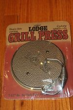 NEW Lodge Cast Iron Grill Press Cool Grip Handle Hamburger Bacon; I love it!