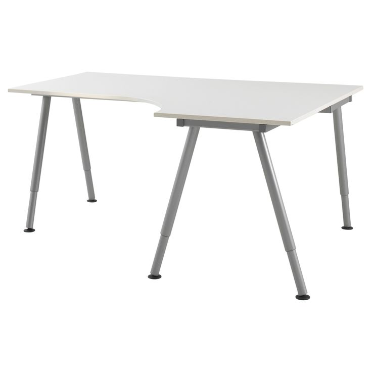 GALANT Corner desk right - white, A-leg - IKEA