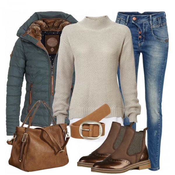 more photos 52265 5e685 CozyWeekdayLook Damen Outfit - Komplettes Herbst-Outfit ...