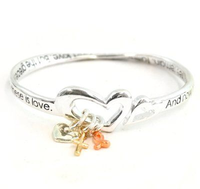 Faith, Hope, Love Mobius Bracelet