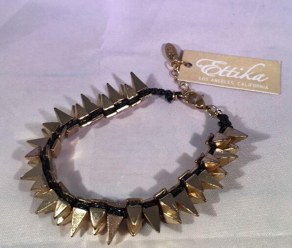 Ettika Double Spike Candy Friendship Bracelet Black Celebrity Boutique Saks | eBay