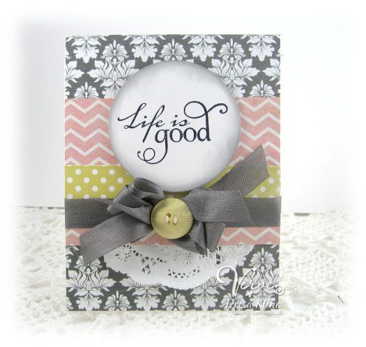Card by Teresa Kline using Life is Good from Verve.  #vervestamps