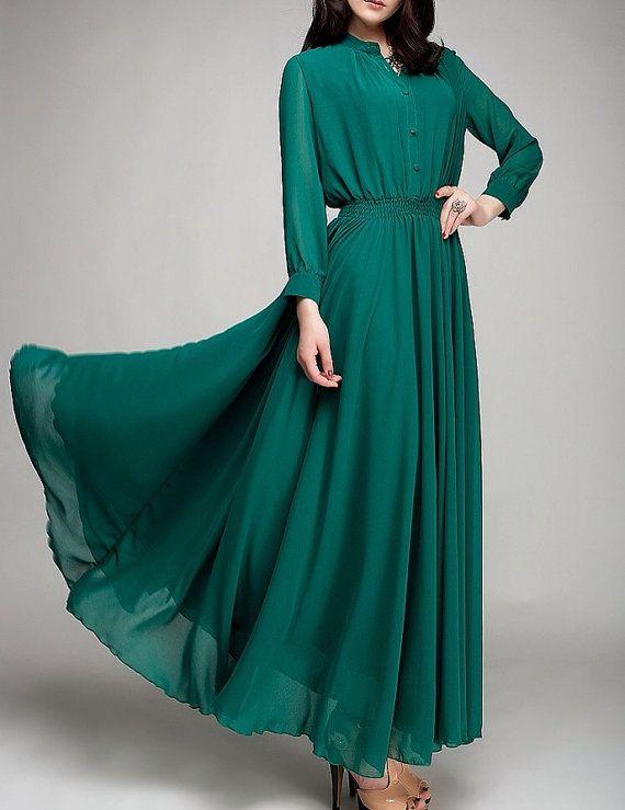 perf Custom Long Sleeve Wedding/Bridesmaids/Prom Dress by KarenTrends, $109.00