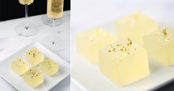 Jelloshots med champagne recept