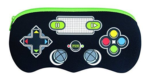 Helix - Astuccio a forma di controller dei videogiochi, colore: nero