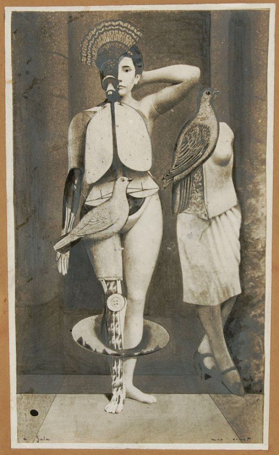 Max Ernst. Sacred conversation 1921. Collage photomontage