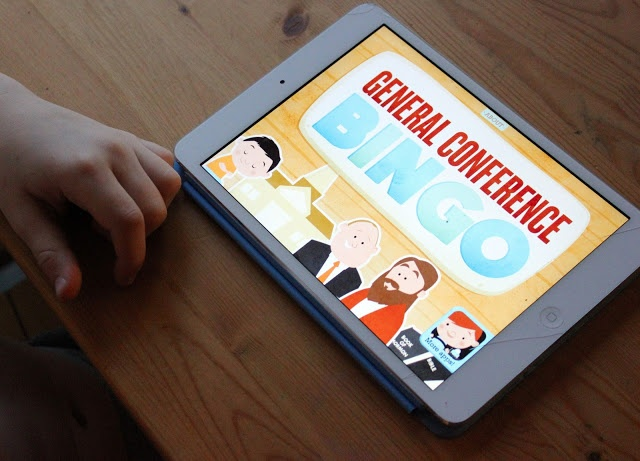 Free Apps for General Conference:  Bingo, Temple Match, General Conference Review Games, and the Ensign