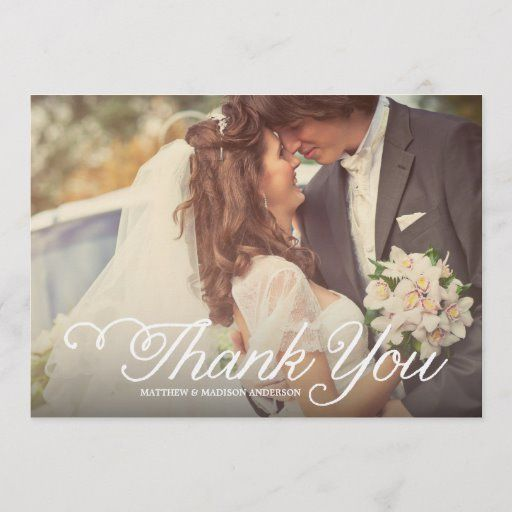 Sweetest Day | Wedding Thank You Photo Card | Zazzle.com ...