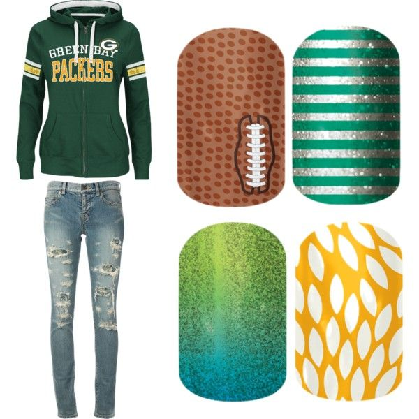 """Green Bay Packers paired with Jamberry Nail Wraps"" by diana-hadley on Polyvore"