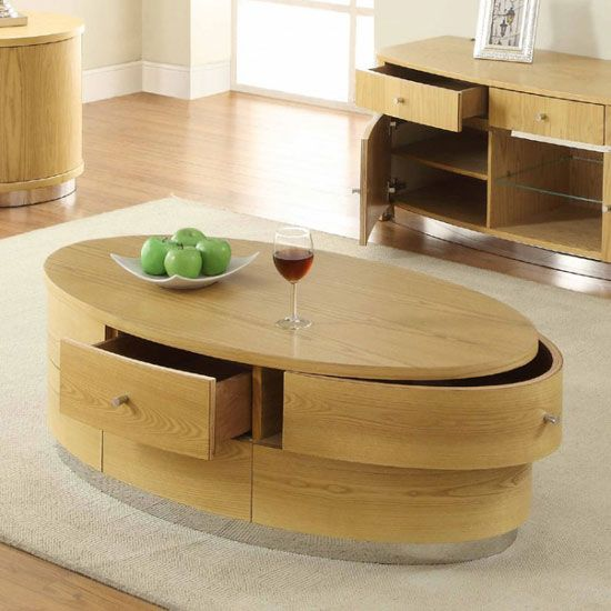 Get Hands On This Oval Shaped Beautiful Coffee Table That Offers Not Only Style But Function