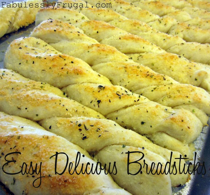 My Favorite Breadstick Recipe: fast, easy, and delicious!  http://fabulesslyfrugal.com/?p=151094