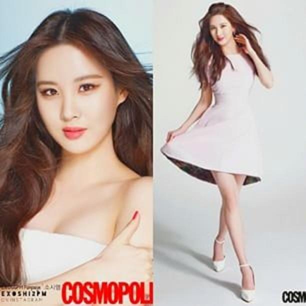 Seohyun SNSD terlihat sensual dengan rambut panjang terurai memperlihatkan sedikit belahan payudara, langsdung disimak deh Foto Payudara Seksi Seohyun SNSD di Majalah Cosmopolitan.