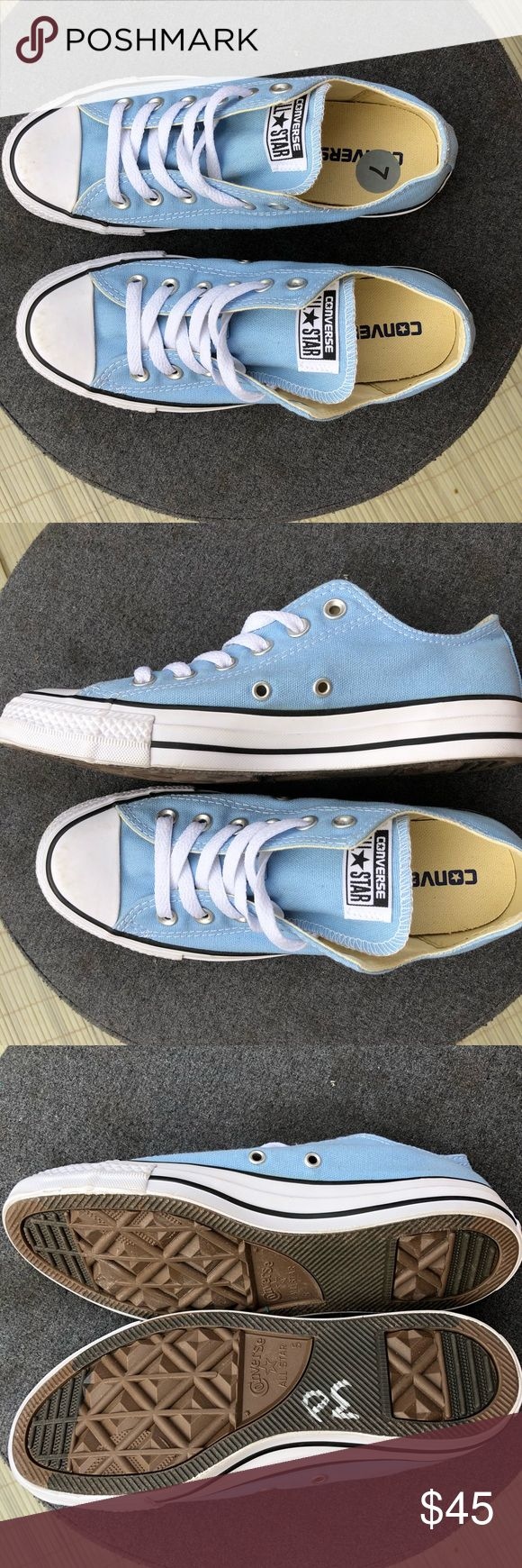Converse • women's size 7 baby blue sneakers Brand new and never worn! Baby blue converse in women's 7! Converse Shoes Sneakers