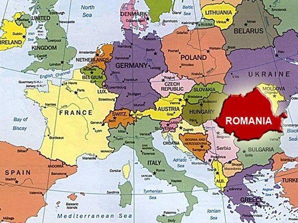 romania map europa eastern europe