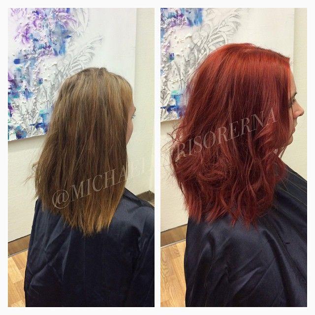 Så sjukt snyggt med eldigt rött!!! Här, färg och klipp av Amanda #michaelofrisorerna #hairpassion #stockholm #ombre #ombrehår #ombrehair #balayage #olaplex #olaplexsweden #hair #hairstyle #hairstylist #hår #haircolour #hairfashion #Longhair #hairdresser #blondehair #blonde #brownhair #curlyhair