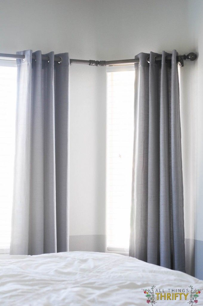 do you have bay windows i do and for five years i didnu0027t have curtains because i figure out the curtain rod situation i figured it out